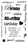 Essential Birthdays Clear Woodware Stamp Set (JGCL519)
